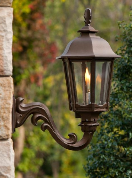 Wall Mounted Gas Lamp Lighting Fixture by American Gas Lamp Works.